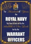 Metal Signs - Warrant Officers